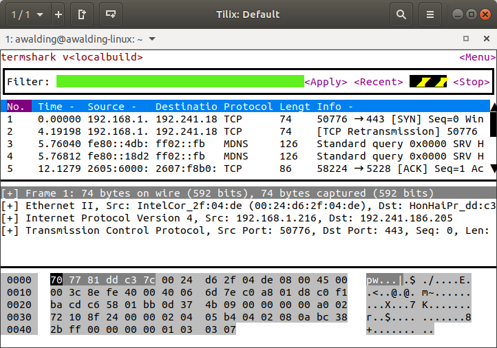 CellStream - A Terminal Version of T-Shark - we love it!